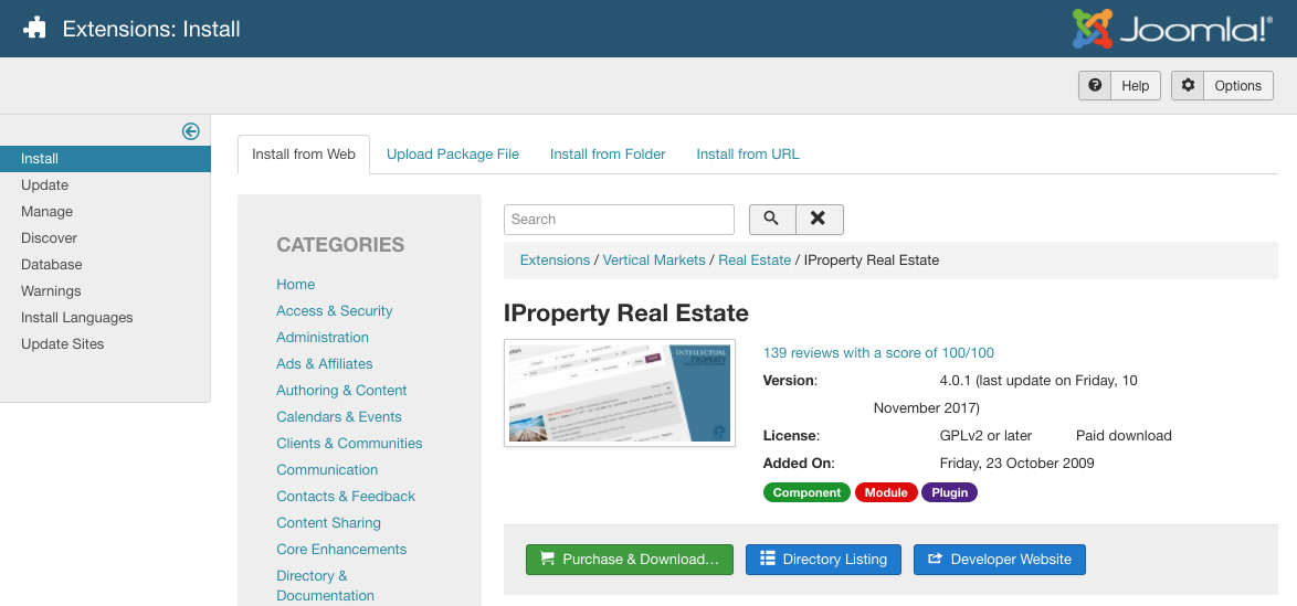 IProperty Install from Web