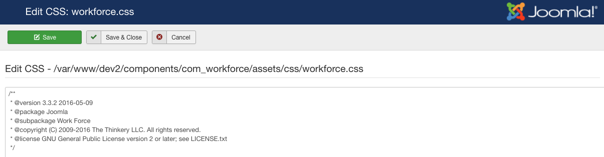 Work Force CSS